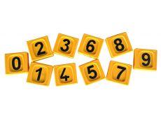 Passant d'identification jaune chiffre 8