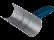 Étrille métallique demi-ronde