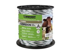 Cordon torsadé blanc et vert diamètre 6 mm 200 m CLASSIC