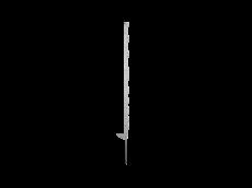 5 Piquets SMART blanc 115cm HORIZONT