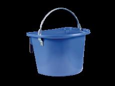 Mangeoire bleue avec anse et crochets de suspension