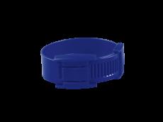 10 bracelets bleus en plastique