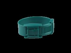 10 bracelets verts en plastique