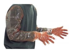 Gant polyéthylène orange