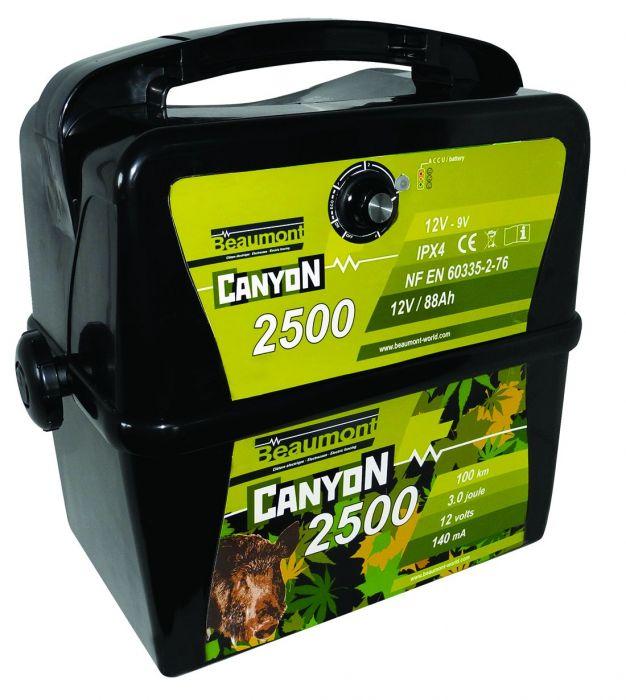 Electrificateur batterie 9V/12V Beaumont Canyon 2500