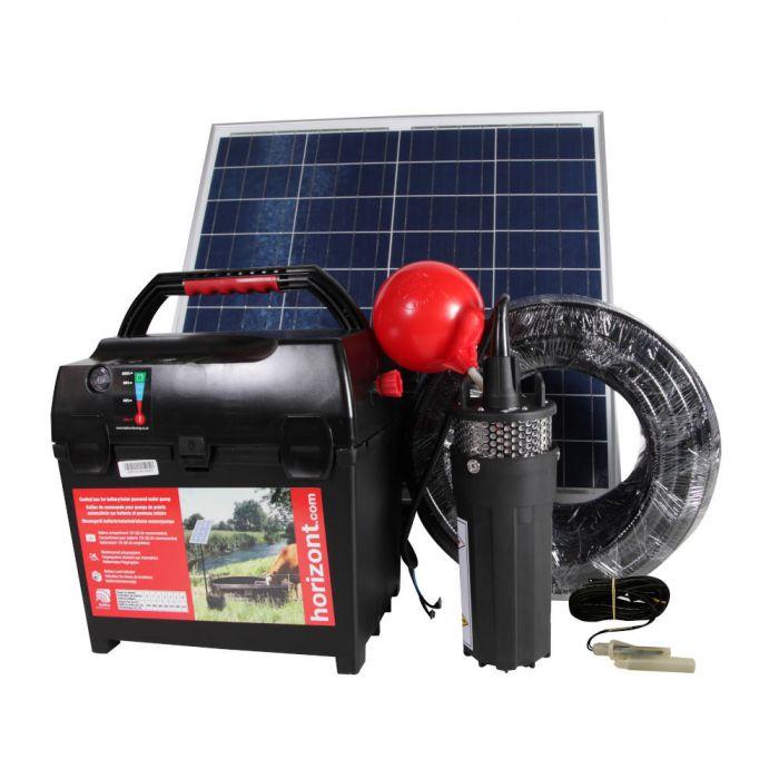 Pompe de prairie avec panneau solaire 60W