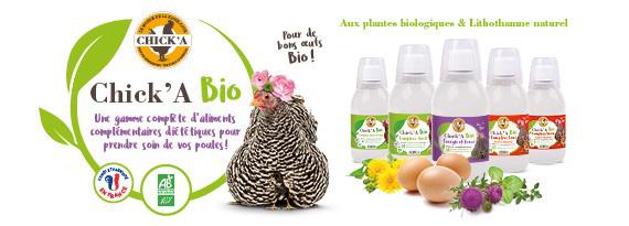 Gamme de compléments alimentaires diététiques bio Chick'A