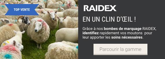 Gamme de bombes à marquer pour ovins Raidex