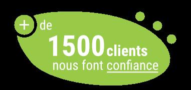 plus de 1500 clients nous font confiance