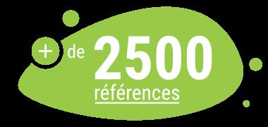 plus de 2500 références